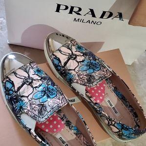 Miu Miu Prada Toe Cap Flowe Shoes Slip On size 6